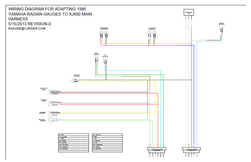 radian_wiring how to xj600 & seca ii naked headlamp conversion xjrider com 2014 yamaha bolt wiring diagram at soozxer.org