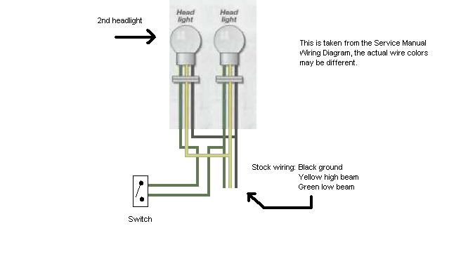 new headlight dual bulbs need wiring diagram xjrider com here s a quick diagram sorry for the crudety