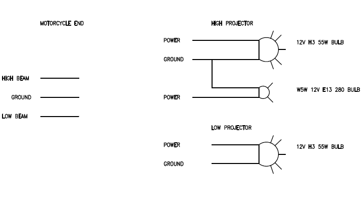 projector headlight - XJRider.com on