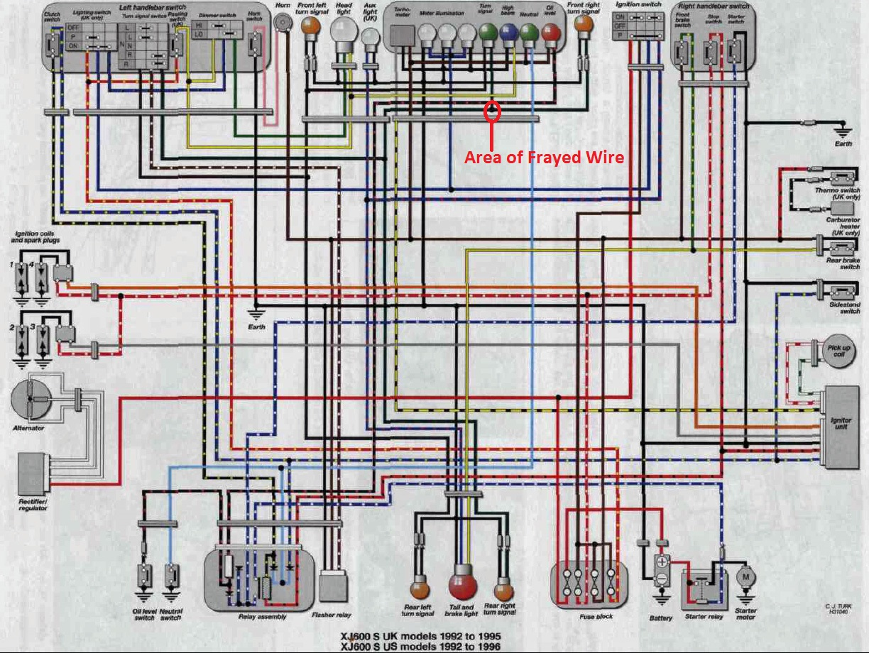 Yamaha 600 Wiring Diagram - Wiring Diagram Project on